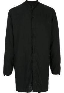 Transit Camisa Túnica Com Colarinho - Preto
