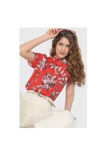 Blusa Colcci Floral Vermelha