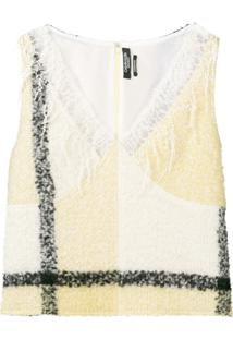 Calvin Klein 205W39Nyc Blusa Com Detalhe De Renda - Amarelo