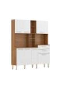 Cozinha Compacta 7 Portas 2 Gavetas Encanto 97201 Amendola Branco Demobile