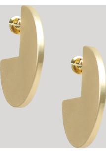 Brinco Feminino Geométrico Fosco Dourado - Único