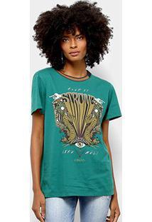 Camiseta Manga Curta Colcci Keep It Strong Feminina - Feminino