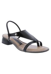 Sandália Dakota Salto Bloco Verniz Preto
