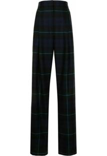 Paul Smith Calça De Lã Xadrez Tartan - Azul
