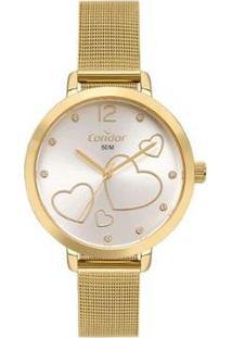Relógio Condor Feminino Bem Querer Dourado Analógico Co2035Myhk4D - Feminino