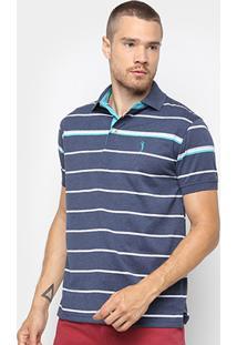 2ce683a92e ... Camisa Polo Aleatory Fio Tinto Listrada Masculina - Masculino