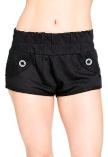 Shorts Red Nose Moletom Feminino - Feminino-Preto
