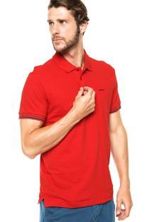 Camisa Polo Sommer Botões Vermelha