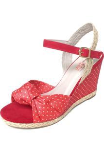 Sandália Blume Calçados Poá Vermelha