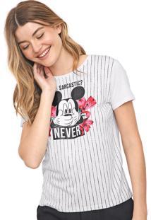 Blusa Cativa Disney Mickey Branca/Preta