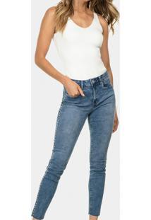 Calça Skinny Cropped Elastic Jeans - Lez A Lez
