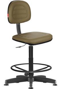 Cadeira Caixa Alta Secretária Giratória Courvin Marrom
