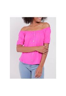 Blusa Ciganinha Feminina Pink