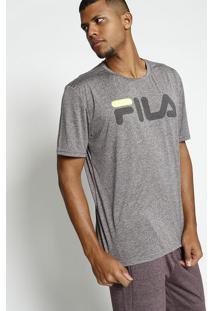 Camisa Mescla Flow®- Cinza & Verde Neonfila