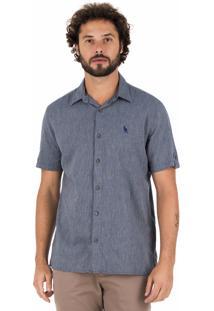 Camisa Side Walk Camisa Flat Azul Marinho