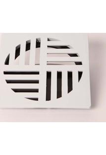 """Grelha Ralodengue Com Dispositivo Anti-Inseto Quadrada 15Cm 6"""" Branca Garaplas"""
