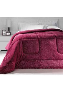 Cobertor Dupla Face Extramacio King Duo Blanket Rosa Cherry - 100% Poliéster - Kacyumara