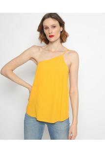 Blusa Ombro ÚNico Texturizada- Amarela- Forumforum