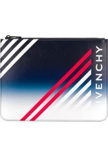 Givenchy Clutch Com Logo - Azul