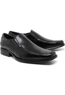 Sapato Social Lsb Shoes Gran Fino Espumado Masculino - Masculino-Preto
