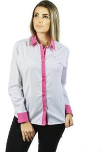 Camisa Pimenta Rosada Lívie Branca