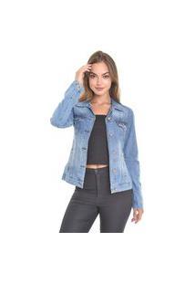 Jaqueta Jeans Lemier Collection Com Botões E Bolso Embutido