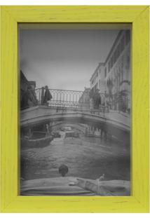 Porta Retrato Caixa Liso 10X15 Amarelo