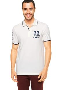 Camisa Polo Lacoste 33 Off-White