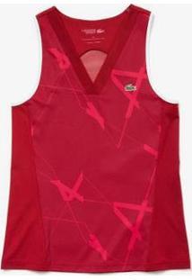 Camiseta Lacoste Sport Feminina - Feminino-Bordô