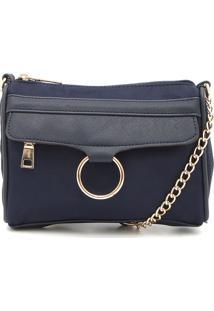 a8ac458f00 Bolsa Azul Recorte feminina