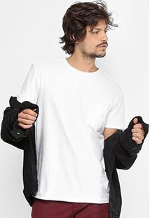 Camiseta Reserva Flame Com Bolso Masculina - Masculino-Branco