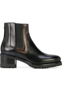 Santoni Ankle Boot Slip-On - Preto