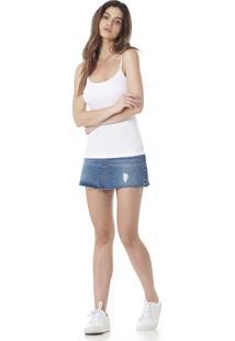 Blusa Básica Serinah Brand Com Alça Branca