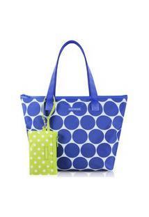 Bolsa Com Niqueleira Jacki Design Dots Azul