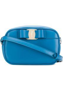 737ab84f0 ... Salvatore Ferragamo Bolsa Transversal Vara Com Laço - Azul