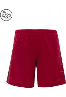 Shorts Microfibra Plus Size Red