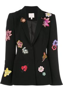 Cinq A Sept Blazer 'Botanical Rumi' - Black/Multi