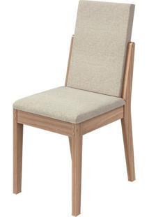 Cadeira Lira Linho Rinzai Bege Carvalho Naturale