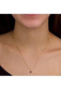 Pingente Separador Em Ouro Branco Com Zircônias - Pg16481