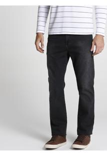 Calça Jeans Reta Estonada