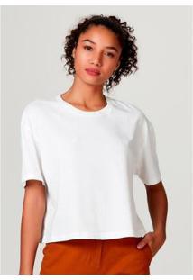 Blusa Feminina Modelagem Box Em Algodão - Feminino-Off White