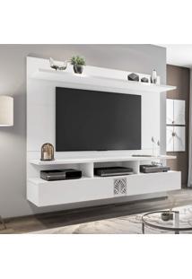 """Painel Para Tv De Até 60"""" 2 Portas Bahamas Siena Móveis Avelã/Branco White"""