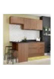 Cozinha Completa Multimóveis Com 6 Peças Calábria 5460R Nogueira