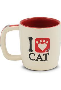 Caneca Pet-Cat 350Ml -Mondoceram - Creme