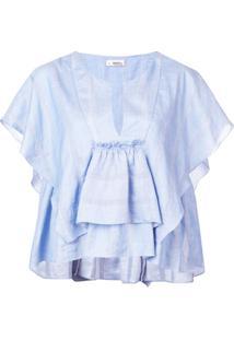Lemlem Blusa Drapeada - Azul