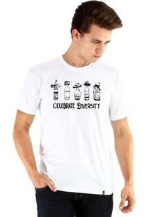 Camiseta Ouroboros Manga Curta Diversity Masculina - Masculino-Branco