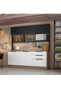 Cozinha Compacta Cook 6 Pt 3 Gv Branca E Preta