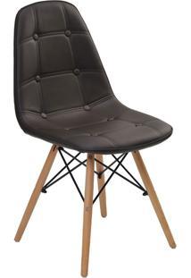 Cadeira Sem Braço Eiffel Botone-Rivatti - Marrom
