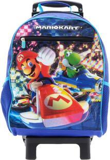 Mochila De Rodinhas Super Mario Kart Yoshi