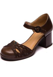 Sapato Mzq Marrom Chocolate / Cafe - Grace Kelly 5860